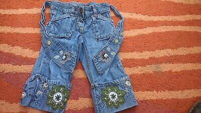 Girls Next Cropped & Jean Like Denim Trousers Age (2-)3 Years guc