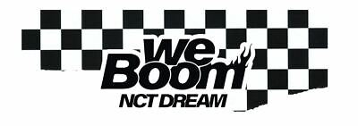 Nct Dream We Boom Pop-Up Store Official Goods Transparent Fan Sealed