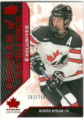 2019 Ud Team Canada Junior Bowen Byram Program Of Excellence Exclusives #107/150