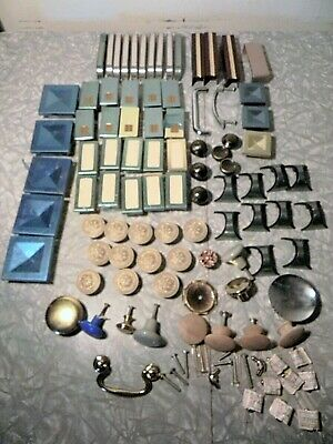 large lot of various drawer pulls, new old stock