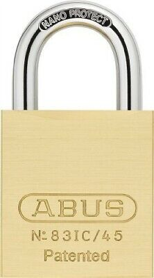 "ABUS 83IC/45 Padlock for Interchangeable Core,1-3/4""W"