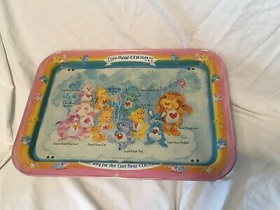 Care Bears Cousins Metal Folding TV Lap Tray ~ American Greetings 1985