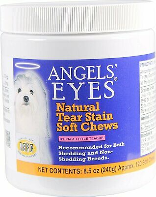 Natural Tear Stain Soft Chews, ANGELS' EYES, 120 chews Chicken 1 pack