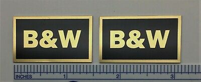 B&W Custom Made Speaker Badges - Bowers Wilkins aluminum