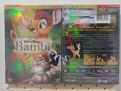 "Bambi (DVD, 2011, 2-DISC SET)  New and Sealed - FREE SHIPPING ""A Kids Movie"""