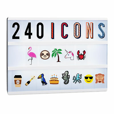 Light Box Expansion Set, 240 Letters and Symbols, Lightbox Accessories, Numbers