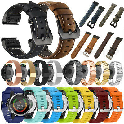 For Garmin Fenix 6S/6S Pro/Sapphire Leather/Silicone/Milanese Strap Watch Band