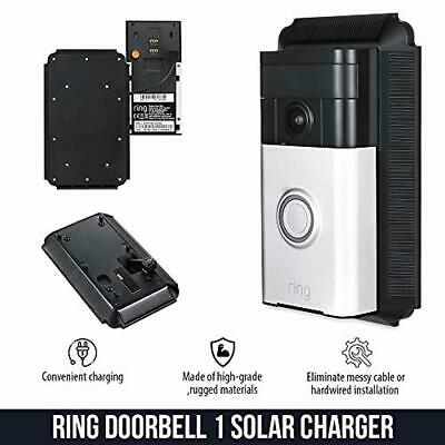 Solar Charger Mount Compatible with Ring Video Doorbell 1 - Continuous Charging