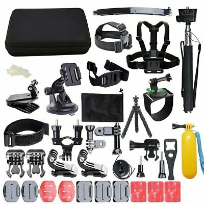 50 in 1 Action Camera accessories Kit For GoPro Hero 1 2 3 3+ 4 5 Video Set UK