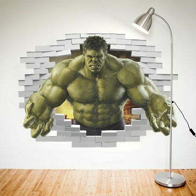 Superheroes Comic Avengers The Incredible HULK Wall Sticker Vinyl Art Home Kids