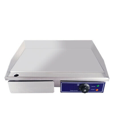 3KW Commercial Electric Griddle BBQ Grill Hotplate Stainless Steel Countertop AU