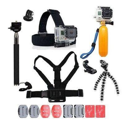 GoPro Accessories Kit 6 5 4 Hero Session Action Camera Head Chest Strap Monopod