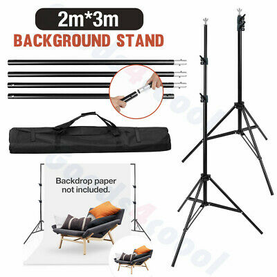 2x3m Photo Studio Heavy Duty Background Support Stand KIT+2 Backdrop Screen=GIFT