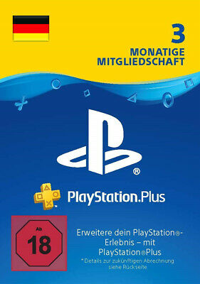 PlayStation Plus Mitgliedschaft 3 Monate 90 Tage PS4 Download Code PSN [DE]
