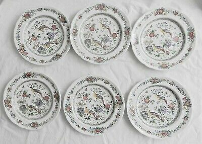 6 Essteller, Design: birds and chinese roses, Spode Copeland, England