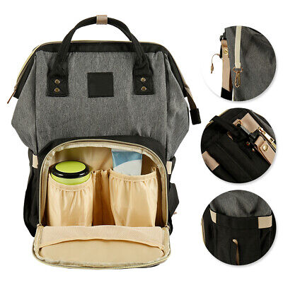 Luxury Multifunctional Baby Diaper Nappy Backpack Waterproof Mummy Changing Bag: