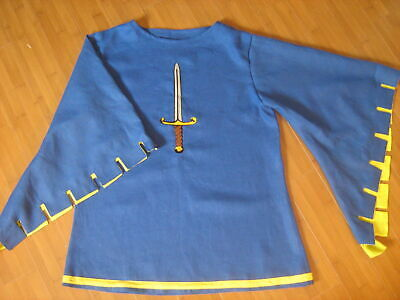 Medieval Tunic Blue Color Fancy Style Historical Very Beautiful Clothing Men