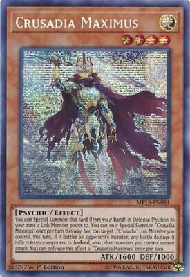 Crusadia Maximus - MP19-EN081 - Prismatic Secret Rare 1st Edition yugioh konami