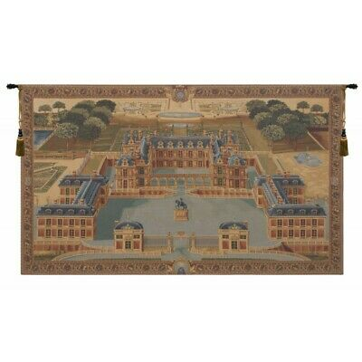 Chateau de Versailles Palace Medieval View European Woven Tapestry Wall Hanging