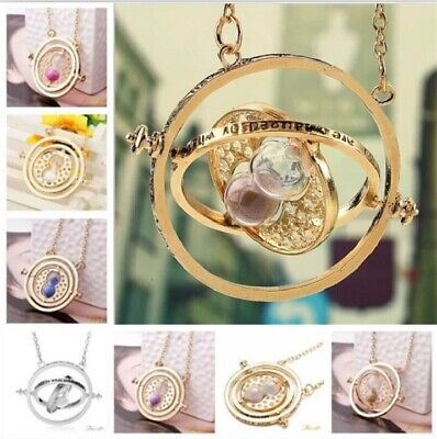 Harry Potter Hermione Granger Gold Tone Hourglass Necklace Pendant Time TurnerBJ