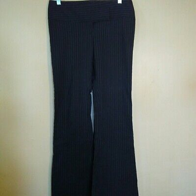 Heart Moon Star Womens Size 4 Black Pinstriped Bootcut Dress Pants