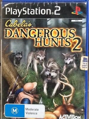 CABELA'S DANGEROUS HUNTS 2 Sony PlayStation 2 Game & Booklet Ps2
