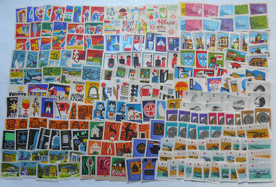 More Than 200 Czechoslovakian Matchbox Labels from 1966-1967