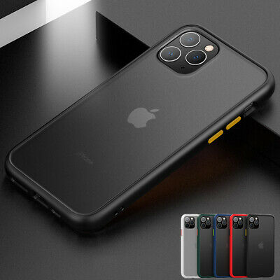 iPhone 11/Pro/Max X XS XR Bumper Hard Case Matte Clear Shockproof Slim Cover