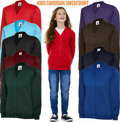 CHILDRENS CARDIGAN Sweatshirt PE Jumper Girls School Uniform TOP UNEEK