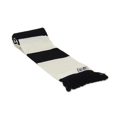 fan originals Retro Football Bar Scarf in Newcastle United Colours Black White