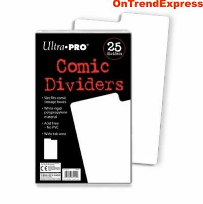 Ultra PRO Comic Book Dividers Index White 25ct 185 x 280mm FREE POST
