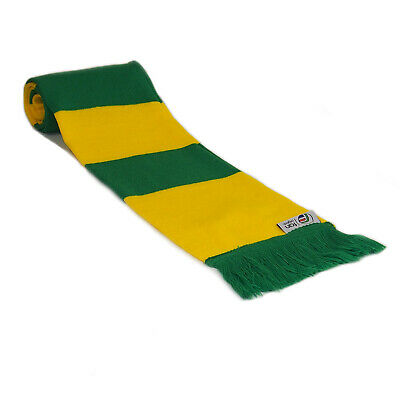 fan originals Retro Football Bar Scarf in Norwich City Colours Yellow Green