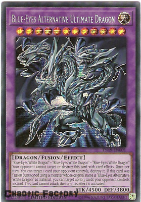 Yugioh TN19-EN001 Blue-Eyes Alternative Ultimate Dragon Prismatic Secret Rare Li