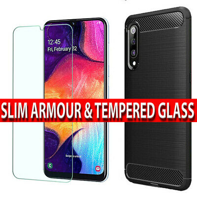 Case For Samsung Galaxy A10 A70 A50 Shockproof Silicone Cover Screen Protector