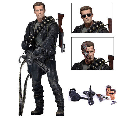 "NECA Terminator 2 Judgment Day T-800 Ultimate Deluxe Arnold 7"" Action Figure b"