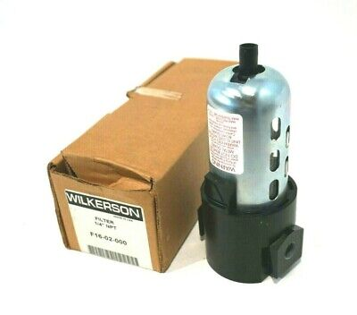 """New Wilkerson F16-02-000 Filter 1/4"""" F1602000"""
