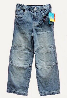 Boys Topolino Campus Stonewash Blue Relaxed Straight Jeans Adjustable Waist