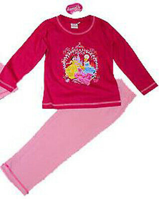Girls DISNEY PRINCESSES Hot Pink Long Sleeve Leg Pyjamas 2 Years