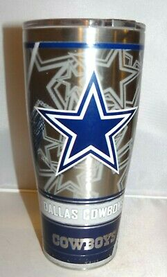 SIC Tumbler Cup 30oz Stainless w/ Yeti Cover and Tervis Dallas Cowboys Decal NFL