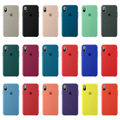 Original Silicone Slim Case For iPhone XR XS Max 7 8 Genuine OEM Cover