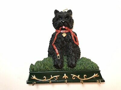 Scottish Terrier Scottie Dog Key Hook Leash Holder Wall Hanger Collectible