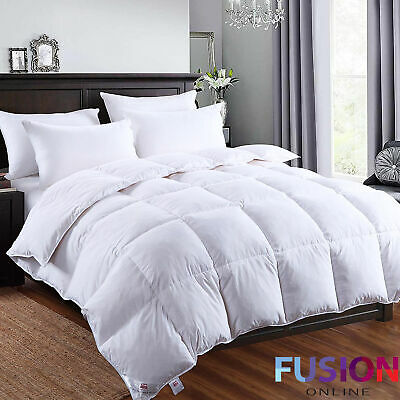 Goose Feather and Down Duvet Quilt Soft Microfibre Bedding All Sizes 13.5 Tog