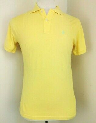 "Ralph Lauren Polo Shirt Size XS Men Yellow Short Sleeves Classic Fit 20"" Chest"
