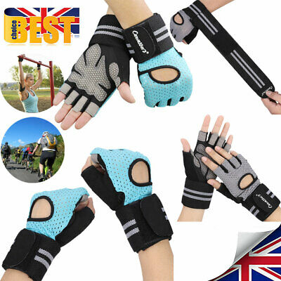 Women Weight Lifting Fingerless Gym Training Sport Cycling Half Finger Gloves M