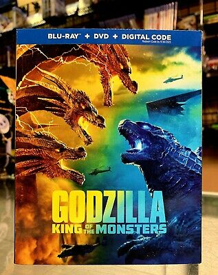 Godzilla: King of The Monsters (Blu-ray + Dvd + Digital 2019) NEW Fast Shipping