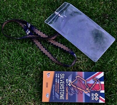 Valentino Rossi Signed Paddock Pass MotoGP 2019 Silverstone Day Of Champions