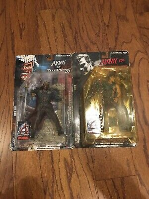 Evil Dead Army Of Darkness Movie Maniacs Ash Set McFarlane Reel  Bruce Campbell