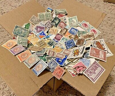 100+ COUNTRIES WW BOX OFF PAPER STAMP LOT. 1,000s OF WORLDWIDE STAMPS! #6