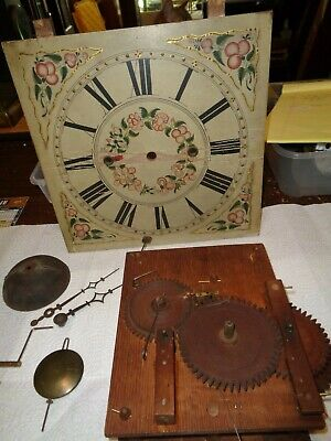 "Antique-American-Wooden Works""Groaner""Clock Movt/Parts-Ca.1830s-To Restore-#T757"