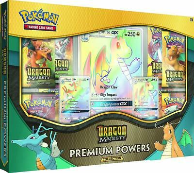 Pokemon Cards | Dragon Majesty Premium Powers Collection Box | 8 Booster Packs